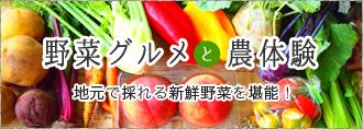 野菜グルメと農体験