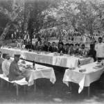自動車遠乗り会の谷保天満宮梅林昼食会